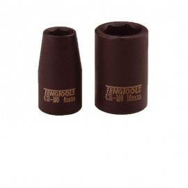 "Vasos de impacto hexagonales 1/4"" 10 mm TENGTOOLS"